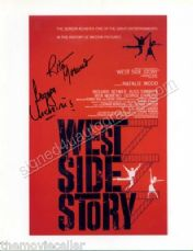 WEST SIDE STORY SIGNED GEORGE CHAKARIS SIGNED RITA MORENO SIGNED 8.5 x 11 photo